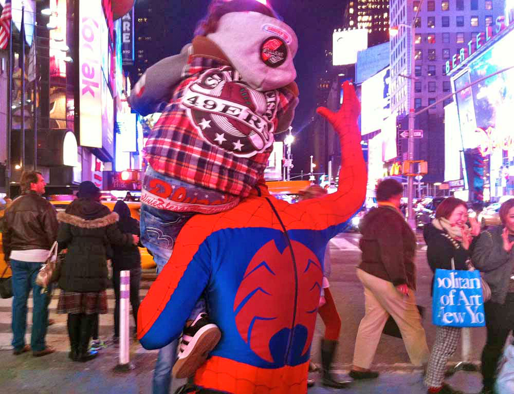 Riding Spiderman | Times Square, New York City, March 2013 | westvirginiavile.com photo