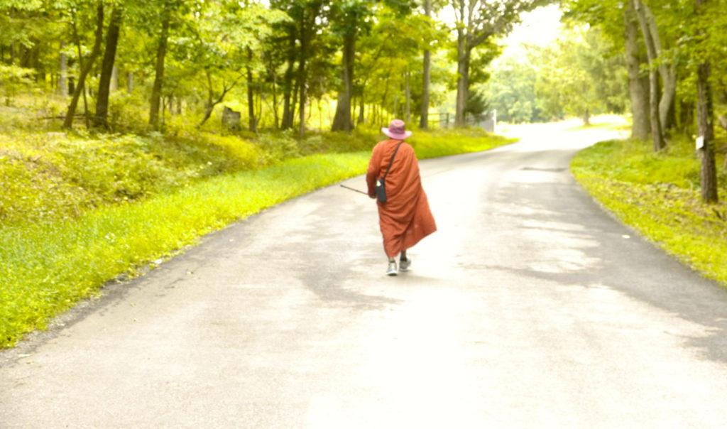 BhanteG_walkingAway